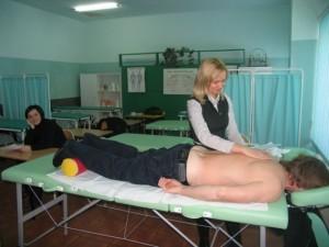gabinet masażu-praca